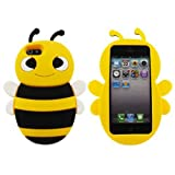 SKS Distribution giallo calabrone Bumble Bee Custodia in silicone / Cover / Case per Apple Iphone 5 / 5S