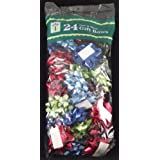 Berwick Peel 'n Stick Gift Bows, Assorted Colors & Sizes, Bow Bag of 24 Bows