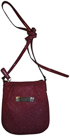 Women's Guess Purse Handbag Crossbody Bambi Logo Mini Ruby