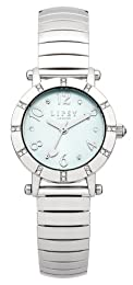 Lipsy Women's Quartz Watch with Green Dial Analogue Display and Silver Stainless Steel Bracelet LP198