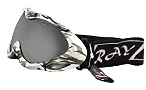 RayZor Professional UV400 Double Lensed Ski / SnowBoard Goggles, With a Silver Camouflage Frame and a Vented Anti Fog Coated, Smoked Mirrored Anti-Glare Wide Vision Clarity Lens.
