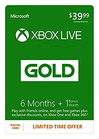 Xbox Live 7 Month Gold Membership [Online Game Code]