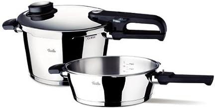 Fissler 620-301-11-070/0 Vitavit Premium - Set di 2 pentole a pressione, 2,5 e 4,5 L con accessorio