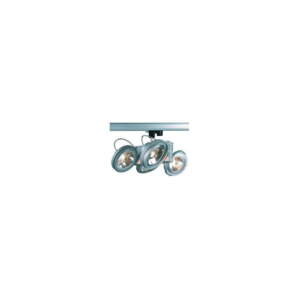 SLV Tec 4 Qrb Spot, 4 x g5.3, inklusive 3 Pin Adapter, maximal 50 W, silber / grau 153022