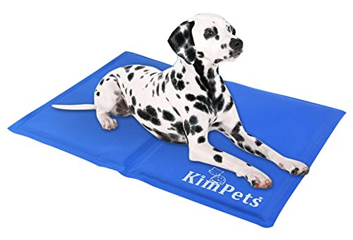KYZ Pet Dog Cat Cooling Bed Ice Pad Self-Cooling Cold Pillow Summer Pad Cushion 16 x 12 Inch For Small Pet Blue
