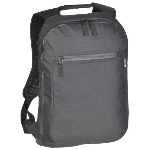 Everest Luggage Slim Laptop Backpack, Black, Black, One Size