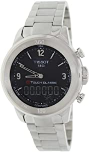 Tissot Men's T-Touch T083.420.11.057.00 Silver Stainless-Steel Swiss Quartz Watch with Black Dial