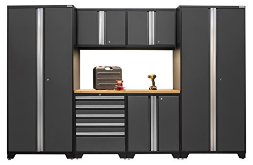 NewAge Products 52052 Pro 3.0 Series Bamboo Storage Set (7 Piece), Gray (Newage Cabinets Pro compare prices)