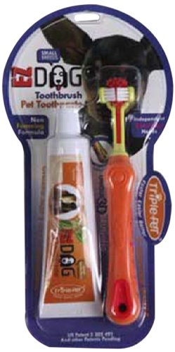 Triple Pet Ezdog Toothbrush Kit For Small Breeds