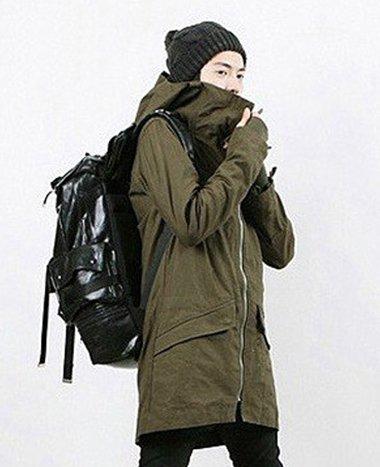 モッズコート メンズ コート ミリタリー 2カラー ブラック グリーン 黒 緑 ロングコート