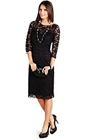 M&S Collection Floral Lace Shift Dress - Debenhams