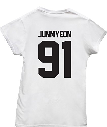 hippowarehouse-junmyeon-91-printed-on-the-back-womens-fitted-short-sleeve-t-shirt