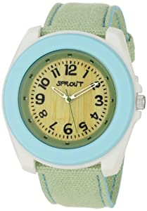 Sprout Unisex ST2005LBIVLG  Corn Resin and Blue Organic Cotton Strap Watch