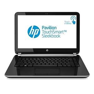 "HP Pavilion TouchSmart Sleekbook 14-f027cl 14"" Laptop (1.7 GHz AMD A8-5545M Processor, 6 GB RAM, 640 GB HDD, AMD Radeon HD 8510G Graphics, Windows 8 64-bit) Black"