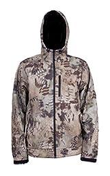Grundens Gage Midway Hooded Softshell Jacket, Kryptek Highlander Camo, 4XL