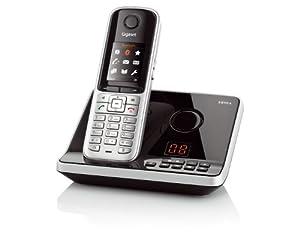 Gigaset S810A Dect-Schnurlostelefon mit Anrufbeantworter, incl. Headset, stahlgrau