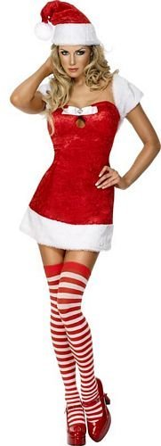 Christmas Present - Red - Adult Christmas Fancy Dress Costume - Medium