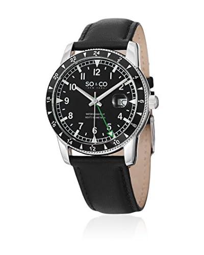 SO & CO New York Reloj de cuarzo Yacht Club Negro 42  mm