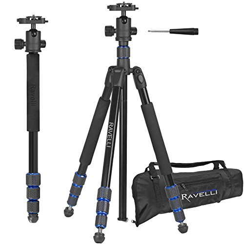 Ravelli-Professional-65-Ball-Head-Camera-Video-Photo-Tripod-with-Quick-Release-Plate-and-Carry-Bag