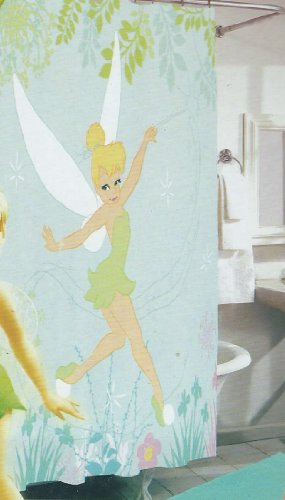 Disney Fairies Tinkerbell Fabric Shower Curtain