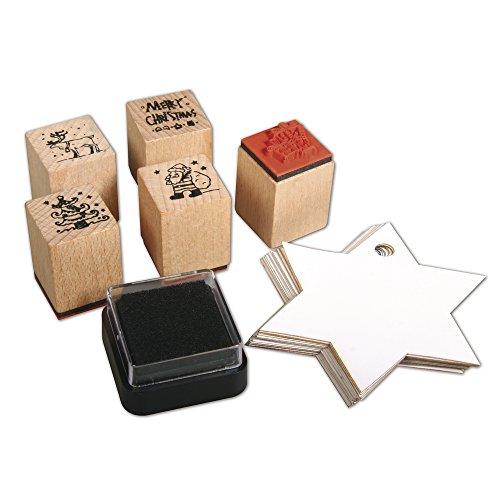 rayher-hobby-58716000-mini-juego-de-sellos-de-madera-christmas-5-pcs-2-x-25-cm-con-accesorios-ds