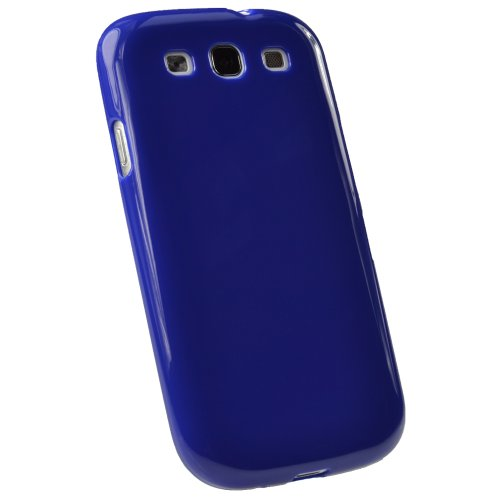 igadgitz Blue Glossy Durable Crystal Gel Skin (TPU) Case Cover for Samsung Galaxy S3 III i9300 Android Smartphone Cell Phone + Screen Protector (Compatible with all carriers incl AT&T, Sprint Nextel, T-mobile & Verizon Wireless) (Smartphone Cases For Samsung compare prices)