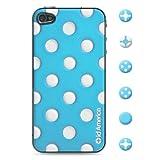 id America iPhone4S,iPhone4用 3D保護シール Cushi Dot Blue csi404BLU