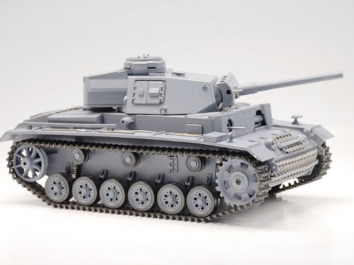 RC German Tiger Tank R/C WWII Battle Panzer Kampfwagen III with Electric Airsoft Gun