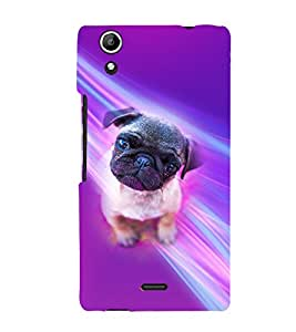 PrintVisa Animal Cute Pug 3D Hard Polycarbonate Designer Back Case Cover for Micromax Canvas Selfie Lens Q345
