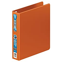Wilson Jones Ultra Duty D-Ring Binder with Extra Durable Hinge, 1.5-Inch, Dark Orange (W876-34-159)