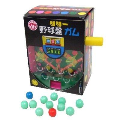 〔駄菓子〕野球盤ガム(1個)  / お楽しみグッズ(紙風船)付きセット [おもちゃ&ホビー]