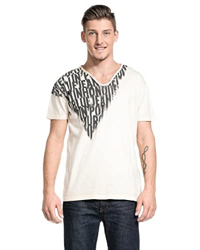 MELTIN'POT Camiseta Manga Corta Anibal 004 Marfil