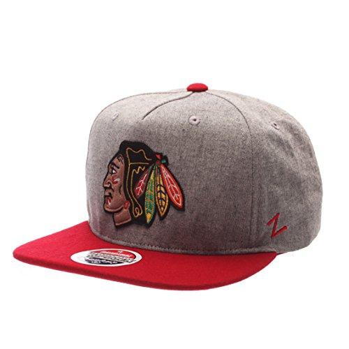 nhl-chicago-blackhawks-mens-boulevard-snapback-cap-adjustable-grey-red