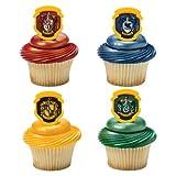 Harry Potter - Hogwarts Houses Cupcake Rings - 24 pc