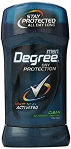 Degree Men's Body Responsive Antiperspirant & Deodorant, Invisible Stick, Clean, 2.70-Ounce, (Pack of 6)