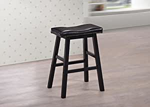 Counter stool 24 h in cappuccino finish with nailhead trim espresso bonded - Leather bar stools with nailhead trim ...