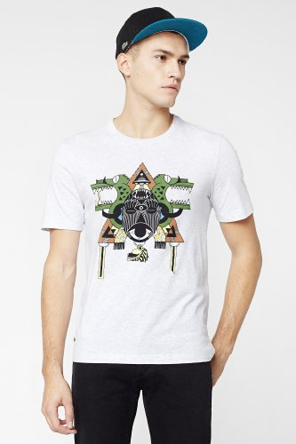 L!VE Short Sleeve Animated Tribal Croc Graphic T-Shirt