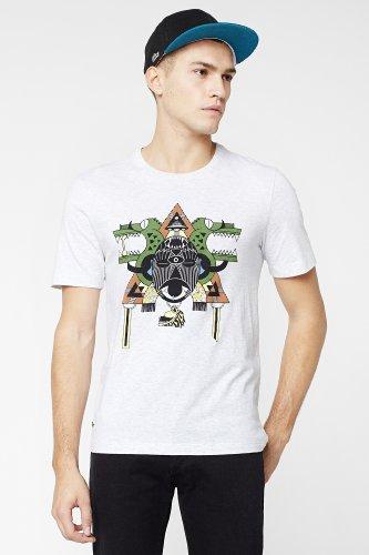 L!VE Short Sleeve Animated Tribal Croc Graphic T-Shirt