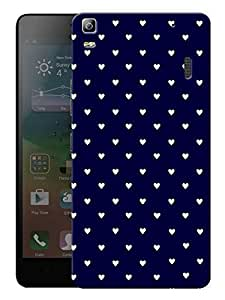 "Humor Gang Cute Little Hearts - Blue Printed Designer Mobile Back Cover For ""Lenovo A7000 - Lenovo A7000 PLUS - Lenovo A7000 Turbo - Lenovo K3 Note"" (3D, Matte, Premium Quality Snap On Case)..."