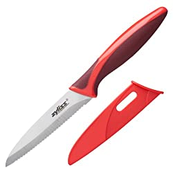 Zyliss Serrated Paring Knife, Red
