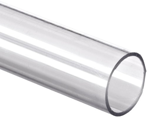 "Polycarbonate Tubing, 1 1/4"" ID x 1 1/2"" OD x 1/8"" Wall, Clear Color 72"" L"