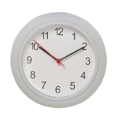 Ikea Wall Clock, White, Clear