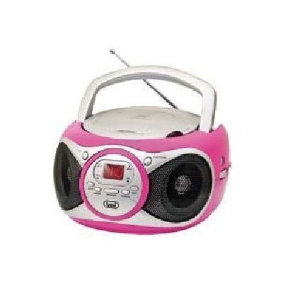 TREVI RADIO CD 512 FUCSIA LETTORE CD, CD-R/RW, RADIO, DISPLAY LED, AUX in