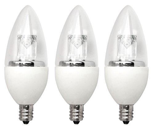 Tcp Rldct527Kc3 Led Torpedo - 40 Watt Equivalent (5W) Soft White (2700K) Dimmable Candelabra Base Light Bulb - 3 Pack