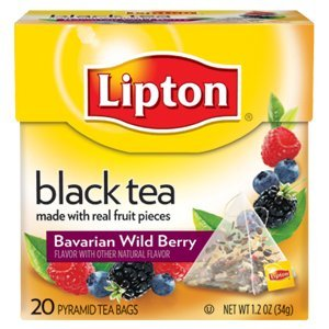 Lipton Black Tea, Bavarian Wild Berry 20 Count Box(Pack Of 6)
