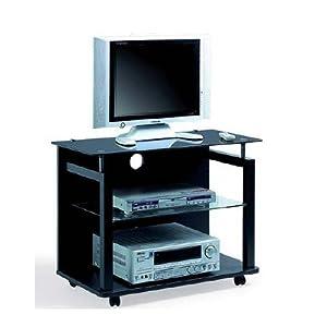 Carrello porta tv con vetro col nero casa e cucina - Carrello porta tv meliconi ...