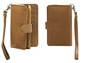 Jo Jo A9 Nillofer Leather Carry Case Cover Pouch Wallet Case For iberry Auxus Beast Tan
