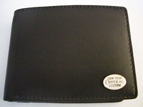 New York Central Railroad Men'S Bi-Fold Italian Leather Wallet