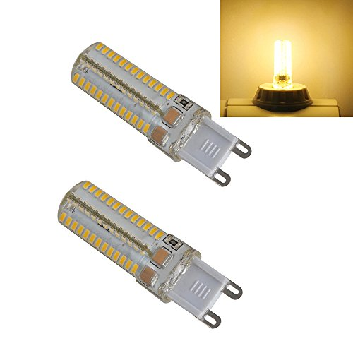 Ljy 2Pcs Pack G9 3014 Smd 104-Led 5W Warm White Light Led Crystal Bulbs 360 Degrees Energy Saving Capsule Spotlight Lamps Ac 110V