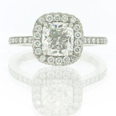 2.61ct Cushion Cut Diamond Engagement Anniversary